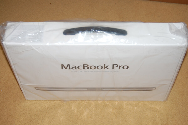 MacBook Pro in doos
