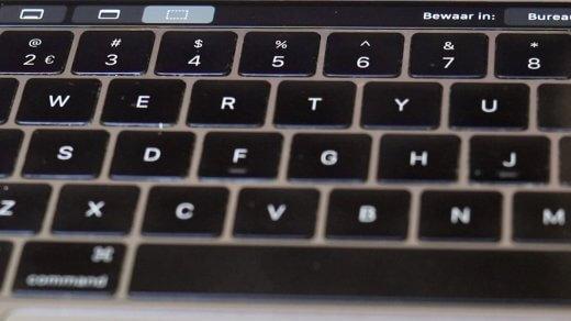 Heb je een MacBook Pro met Touch Bar? Dan zie je daar ook opties voor het maken van je schermafbeelding
