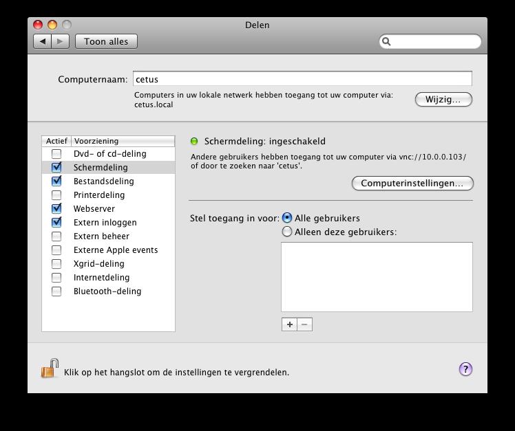 Bestuur Je Mac Op Afstand Via Het Internet Of Netwerk