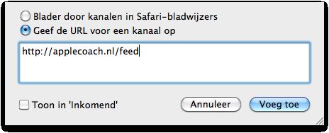 RSS feed toevoegen aan Mail (Mac)