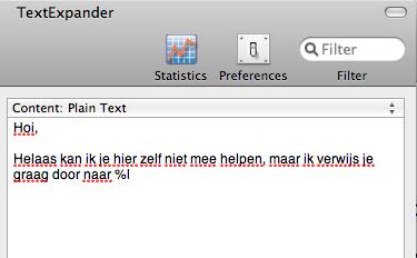 [Serie: Je inbox leeg] Minder typen dankzij TextExpander