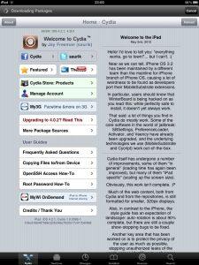 cydia op een iPad met jailbreak