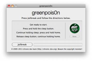 Jailbreak je iPhone, iPad of iPod Touch met greenpois0n