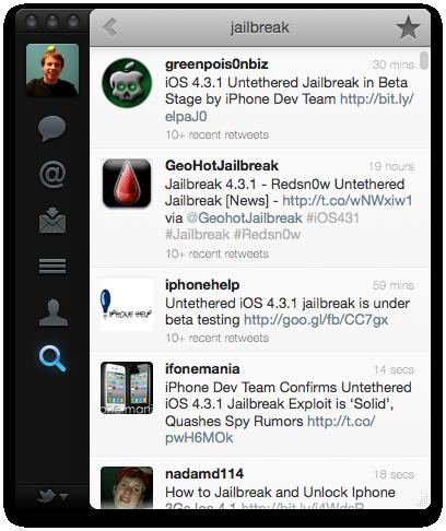 Twitter voor Mac: tweets zoeken