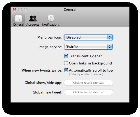 Twitter voor Mac: gebruikers