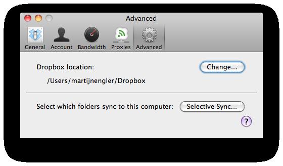 Dropbox: selective sync bespaart ruimte