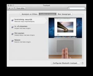 Trackpad op je Mac: scroll opties