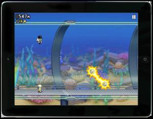 Jetpack Joyride (gratis spelletje voor de iPad)