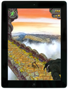 Temple Run: rennen, springen en glijden op de iPad