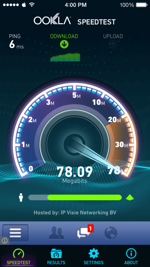 Je downloadsnelheid meten met Speedtest