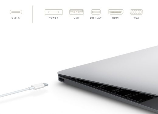 MacBook (2015) met USB-C poort