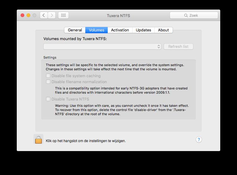 externe harde schijf mac ntfs