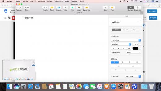 Bekijk een filmpje in een klein hoekje met beeld-in-beeld op macOS Sierra