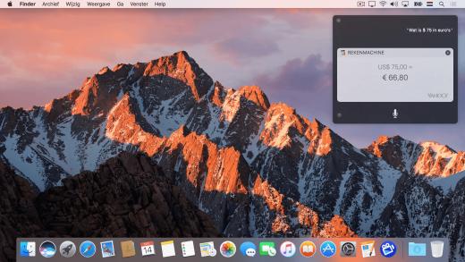 Siri gebruiken op de Mac met macOS Sierra