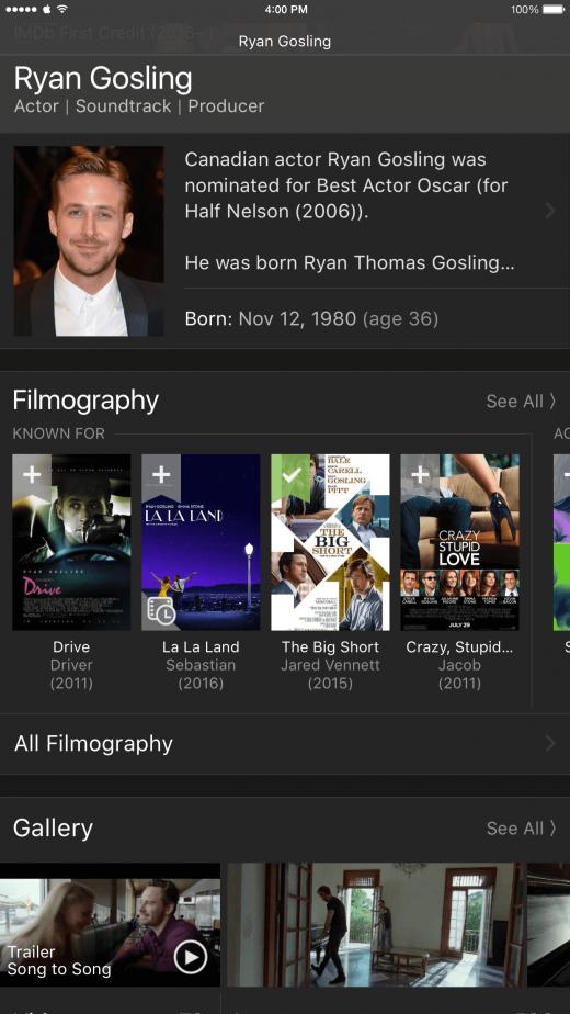 Vind alle informatie over je favoriete acteur met de IMDb-app