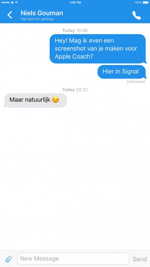 Veilig communiceren met Signal