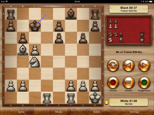 Chess Pro: schaak spelen op de iPad