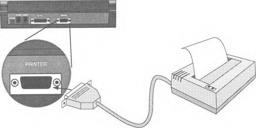 De parallele poort voor je printer is relatief groot