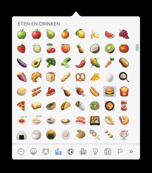 Kies emoji op je Mac met een handig filter