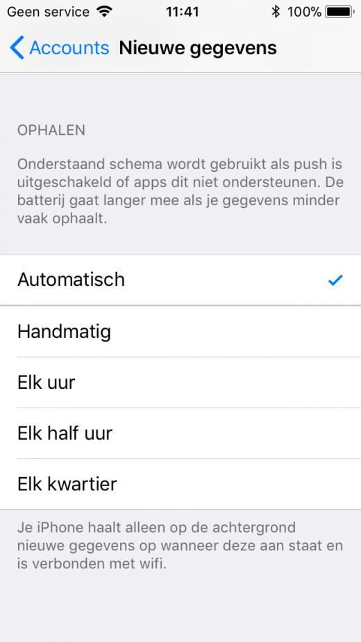 Schakel automatische e-mail (tijdelijk) uit om batterij-problemen op te lossen