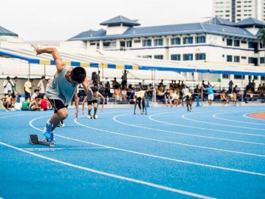 Sprinten is een stuk beter te doen als je geen marathon aan het lopen bent