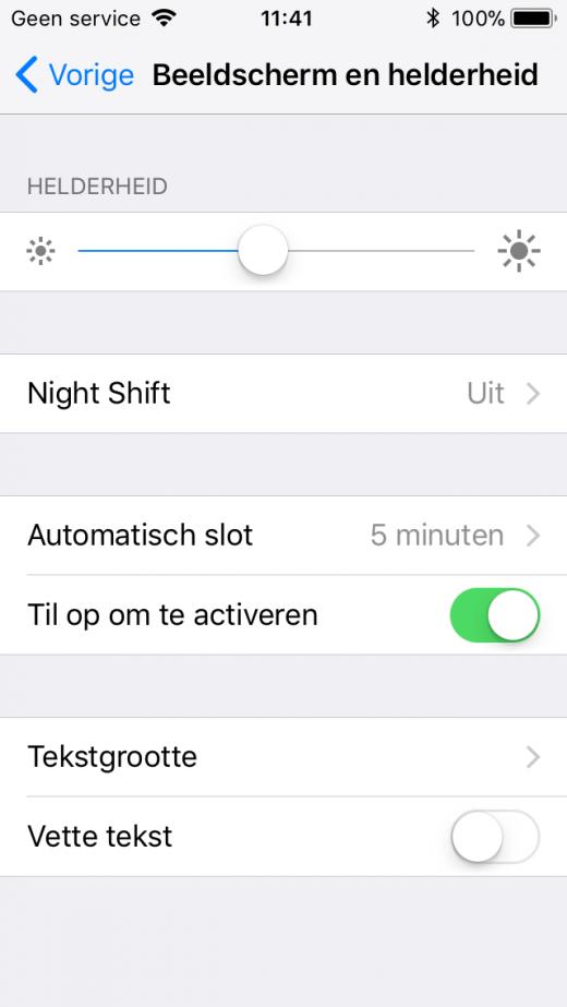 Zet de iPhone automatisch op slot na een bepaalde tijd