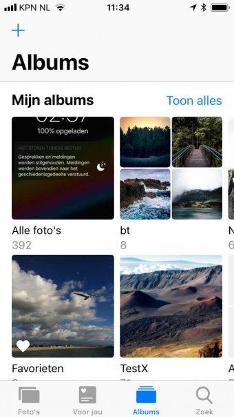 Albums zijn overzichtelijker geordend in iOS 12