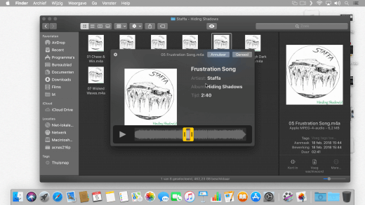 Muziek inkorten kan nu direct in de Finder