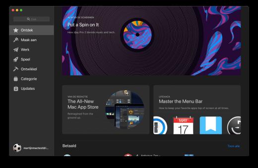 De vernieuwde Mac App Store in macOS 10.14 Mojave