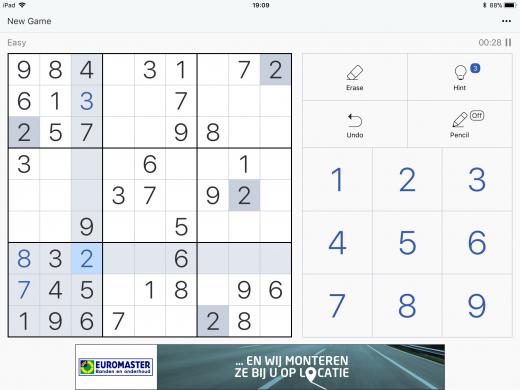 Sudoku iPad