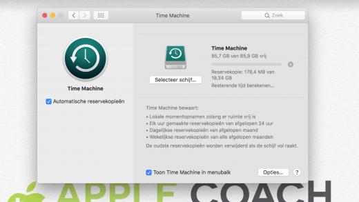 Zorg in ieder geval voor een Time Machine reservekopie voor je de Mac wegdoet