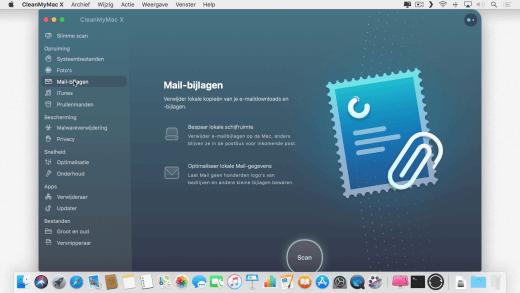 Je kunt er ook voor kiezen slechts één onderdeel op te ruimen met CleanMyMac X