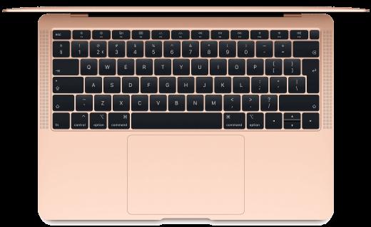 De MacBook Air heeft geen Touch Bar, maar wel Touch ID