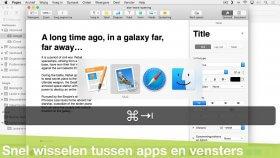 Sneller wisselen tussen programma's, vensters en tabbladen (Mac)