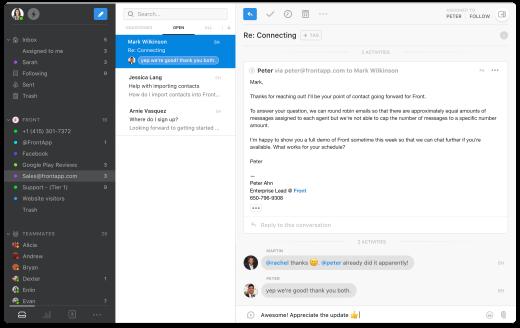 Front is een betere oplossing voor gedeelde e-mailadressen