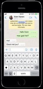 Klets gezellig met iemand anders via WhatsApp, het kost je waarschijnlijk niets