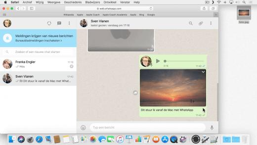 Je kunt WhatsApp ook gebruiken via de Mac