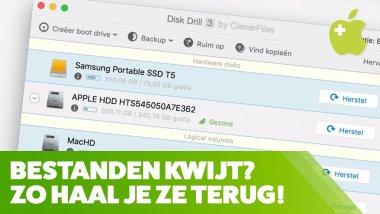 Verwijderde bestanden op de Mac herstellen met Disk Drill Pro