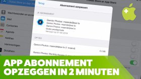 App Abonnement Opzeggen (iPad en iPhone)