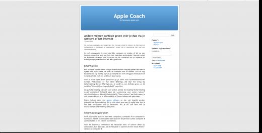 Het originele screenshot artikel op de Apple Coach website
