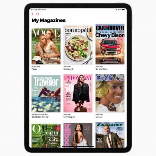 Tijdschriften lenen zich natuurlijk uitermate goed voor de iPad