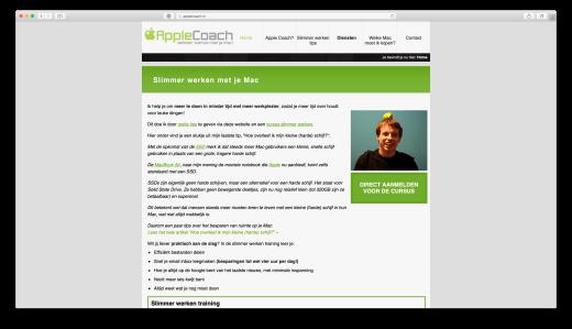 De 2011 homepage met de beroemde profielfoto