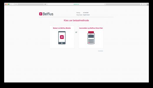 Kies zelf hoe je wilt betalen via Belfius