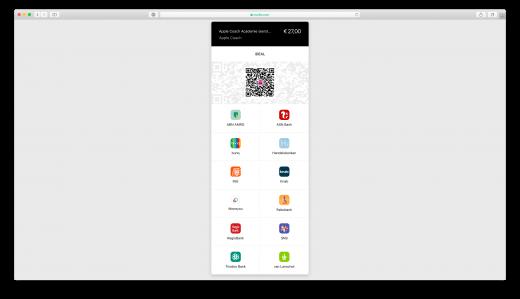 Soms selecteer je de bank voor iDEAL op een aparte pagina