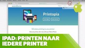 Printen vanaf de iPad met IEDERE printer