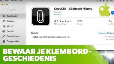 Klembordgeschiedenis bijhouden met CopyClip