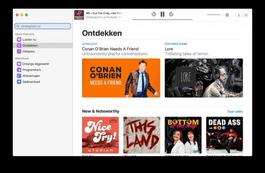 De Mac heeft nu bijvoorbeeld een eigen Podcasts app
