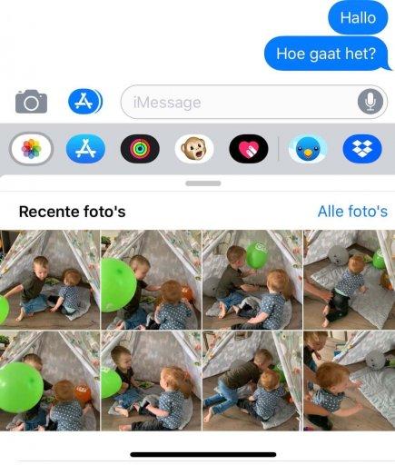 Stuur eenvoudig foto's via iMessage