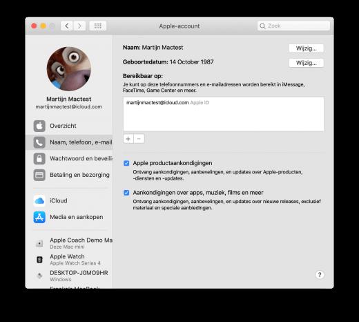 Al je iCloud gegevens zijn op één plek, maar anders ingedeeld