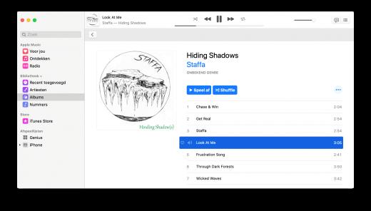 De Muziek app doet nog wat denken aan iTunes, maar is ook wel duidelijk anders
